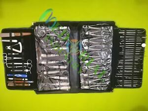 Dental Oral Surgery Kit Of 61 Instruments Extraction Dental Instruments