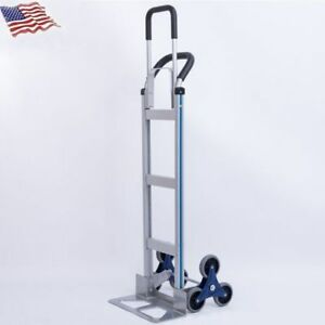 550lb Hand Truck 6 Wheel Stair Climber Moving Dolly Cart Industrial Trolley Cart