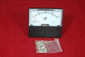 1pc Dc 0 200ua Analog Ammeter Panel Amp Current Meter 60 70mm Directly Connect