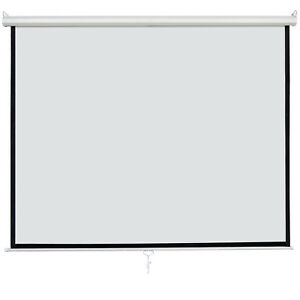 120 1 1 Manual Pull Down Projection Screen Matte White Home Hd Movie Theater