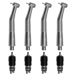 4 Dental High Speed Handpiece Turbine With 4h Quick Coupler Push Button Ruixin