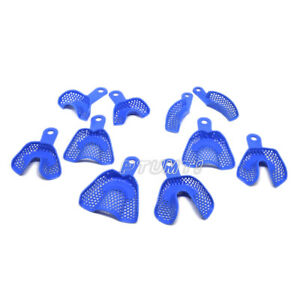 50 Bags Wholesale Dental Plastic steel Impression Trays Blue Pt