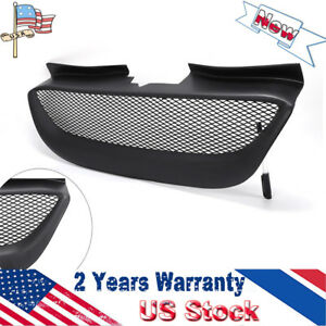 Front Bumper Hood Mesh Grille Resin For 2008 2012 Hyundai Genesis Coupe Black Us