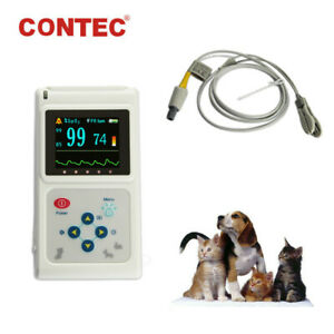 Us Seller Veterinary Pulse Oximeter Spo2 Pr Vet Patient Monitor Tongue ear Probe