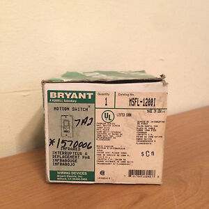 Nib Bryant Msfl 1200i Infrared Motion Switch