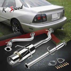 For 94 97 Honda Accord F22 Stainless Catback Exhaust System 4 5 Muffler Tip