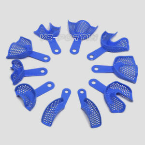 50 Bags Wholesale Dental Plastic steel Impression Trays Blue