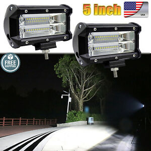 2x 5 168w Led Work Lights Bar Flood Spot Combo Driving Off road Tractor 4wd 12v