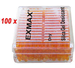 Brand New 100 X Silica Gel Desiccant Humidity Moisture For Absorb Box Reusable