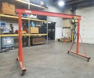 2 Ton Rolling Gantry Hoist Lifting Crane Overhead Adjustable Height 3591sr