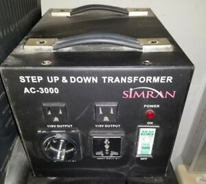Simran Ac 3000 Step Up down Voltage Transformer 3000 Watts Power Converter F