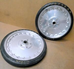 Centerline Spindle mount Wheels 17 x 2 1 2 W goodyear Tires Rear Brgs Only