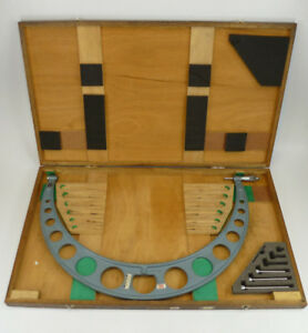 Mitutoyo 18 24 Outside Micrometer 104 202 W 3x Anvils No Standards