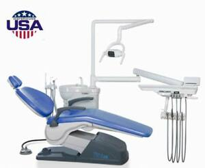 Dental Unit Chair A1 Model Sky Blue Fda Ce Approved 4hole 110v Tuojian Us Stock