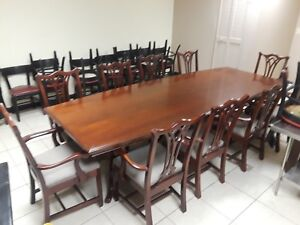 Cherry Wood 10 Chair Slightly Used Conference Table