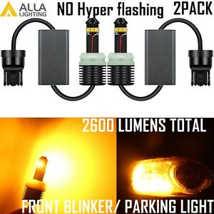 Alla Lighting 7443 Led Front Turn Signal Light Lamp Amber Bulb no Hyper Flashing