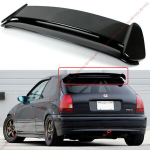 For 96 00 Honda Civic 3dr Hatchback Gloss Black Type R Style Roof Spoiler Wing