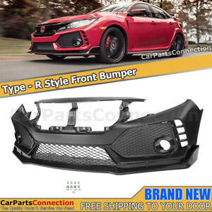 Front Bumper Cover For Honda Civic 16 18 Coupe Sedan Type R Style Fascia Trim