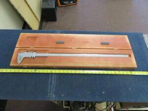 Starrett No 123 Master Vernier Caliper Hardened And Stabilized Master Bar