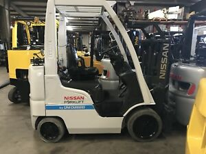 2013 Nissan Forklift 4000lb Capacity Propane Truckers Mast Lifts 80 Inches