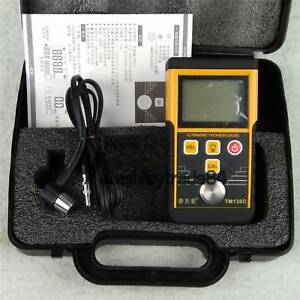 Digital Ultrasonic Wall Thickness Gauge Tester Meter Fo Metal Steel 225mm Tm130d