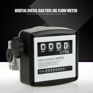 High Accuracy 4 digit Mechanical Diesel Gas Fuel Oil Flow Meter Counter Gauge