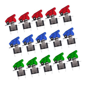 15pcs 12v Safety Cover Led Toggle Switch Spst On off 20a For Car Boat Atv