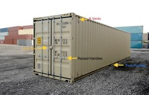 New 40ft High Cube one trip Shipping Container For Sale In Miami Fl