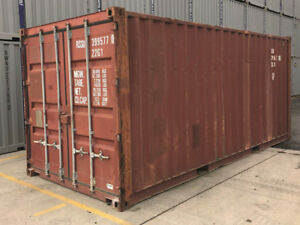 20ft Used Shipping Container In Wind Watertight Condition Tampa Fl