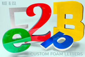 3d Foam With Acrylic Custom Signs Outdoor Front Store