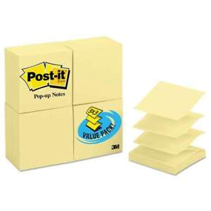 Post it Pop up Notes Original Canary Yellow Pop up Refill 3 X 3 051135209790
