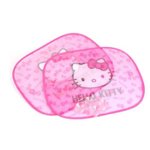 Hello Kitty Face 2 Pcs Car Side Sunshade Window Screen Visors Windshield Cover 1