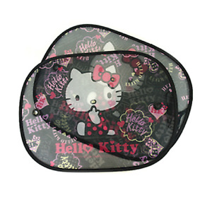 Hello Kitty Face 2 Pcs Car Side Sunshade Window Screen Visors Windshield Cover 2