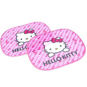 Hello Kitty 2 Pcs Car Side Sunshade Window Screen Visors Windshield Cover 4