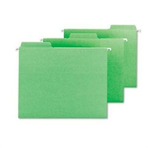 Fastab Hanging File Folders Letter Green 20 box X 2