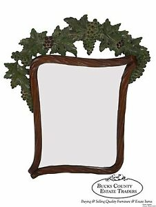 Bettis Brooke Grapevine Carved Hanging Wall Mirror