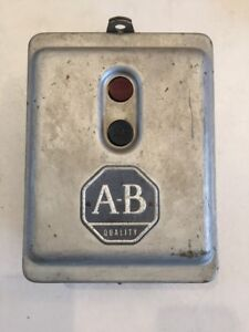 Vintage Allen Bradley Start Stop Push Button Switch