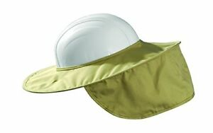 Occunomix Hard Hat Cotton Sun Shade Stow Away Super Brim Protects Face Neck Skin