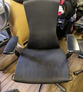 Herman Miller Embody Chair Black Frame Rythm Fabric Fully Loaded
