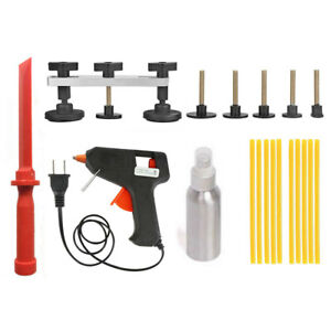Small Auto Body Paintless Dent Repair Tools Glue Sticks Puller Tabs Removal Kit