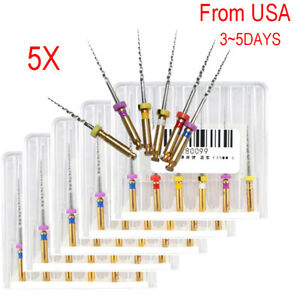 5 pack Debshine Dental Endo Endodontic Niti Rotary Files Engine Sx f3 25mm Mixed