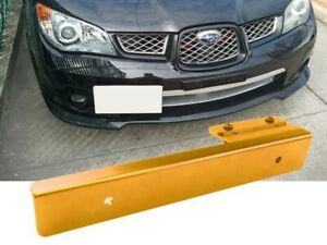 Yellow Offset Bumper Front License Plate Mounting Bracket Plate For Korean Car