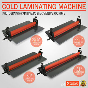 Cold Laminator Manual Roll Laminator Vinyl Photo Film Laminating 25 5 51in