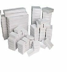 100 White Gloss Jewelry Display Cotton Filled Mixed Gift Box Set