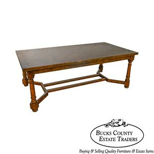 French Country Style Large 11 Parquet Top Expanding Dining Table B