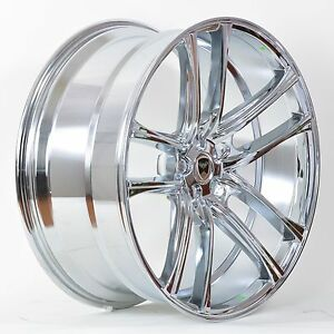 4 Gwg Wheels 18 Inch Chrome Zero Rims Fits 5x112 Et40 Mercedes benz C 300 2013