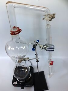 Essential Oil Steam Distillation Kit lab Apparatus Graham Condenser