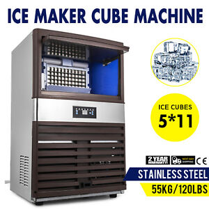 55kg 120lbs Intelligent Ice Cube Making Machine Supermarkets Ice Spoon Canteens