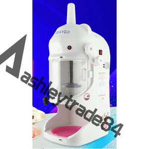 Commercial Snow Ice Block Shaving Machine 220v Ice Crusher Shaved Ice Machine