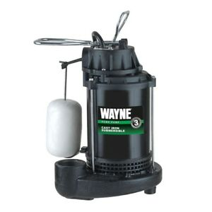 Sump Pump 1 3hp Cast Iron Sugmersible Vertical Float Switch Top Suction By Wayne